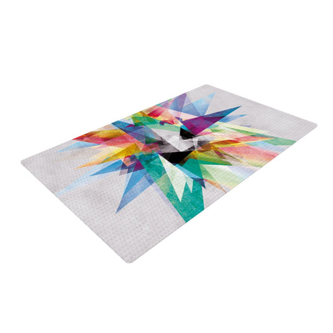 "Mareike Boehmer ""Colorful"" Rainbow Abstract Woven Area Rug - Outlet Item"