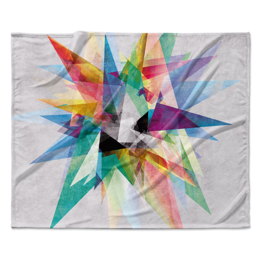 "Mareike Boehmer ""Colorful"" Rainbow Abstract Fleece Throw Blanket"