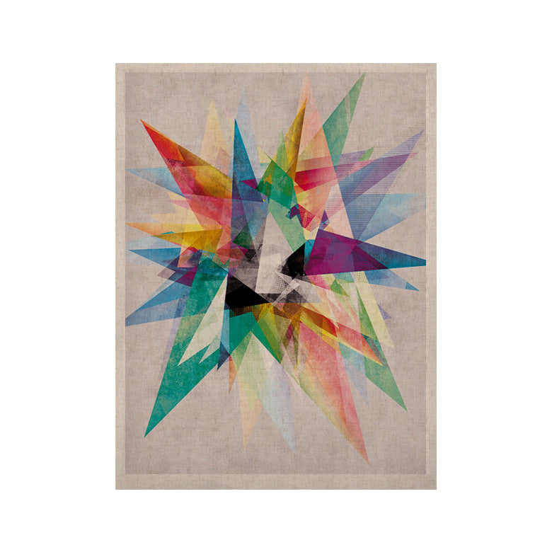 "Mareike Boehmer ""Colorful"" Rainbow Abstract KESS Naturals Canvas (Frame not Included) - KESS InHouse  - 1"