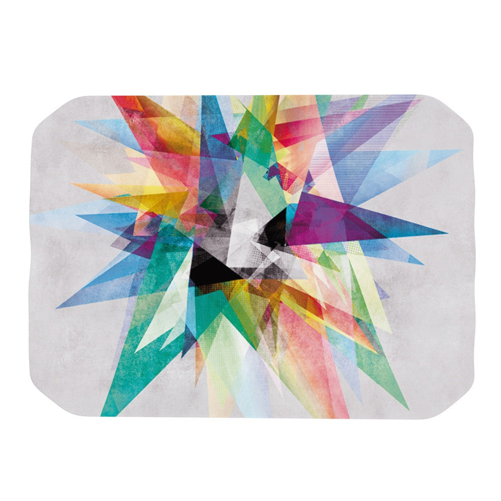 "Mareike Boehmer ""Colorful"" Rainbow Abstract Place Mat - KESS InHouse"