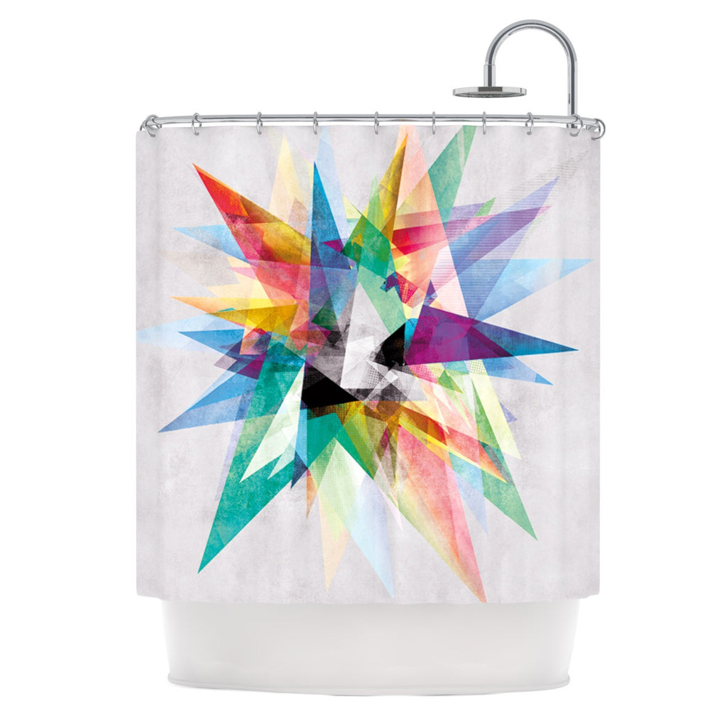 "Mareike Boehmer ""Colorful"" Rainbow Abstract Shower Curtain - KESS InHouse"