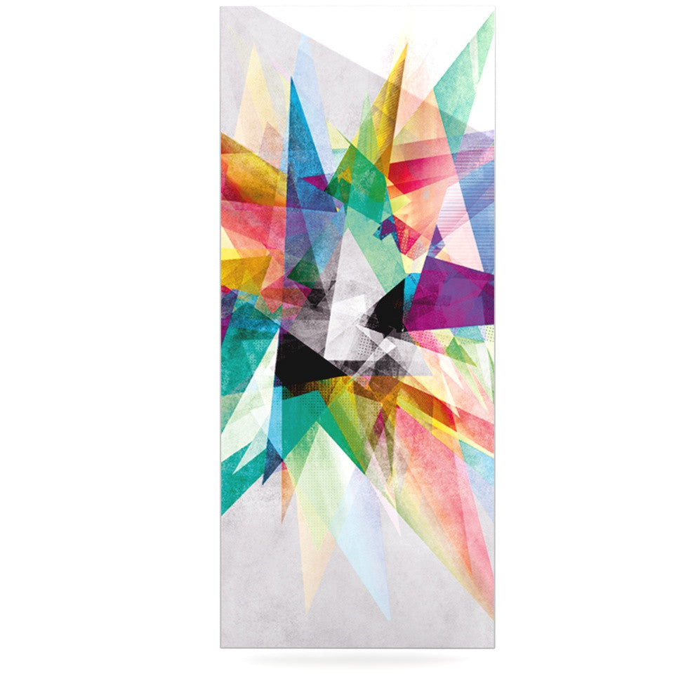"Mareike Boehmer ""Colorful"" Rainbow Abstract Luxe Rectangle Panel - KESS InHouse  - 1"