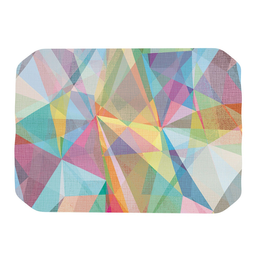 "Mareike Boehmer ""Graphic 32"" Rainbow Abstract Place Mat - KESS InHouse"