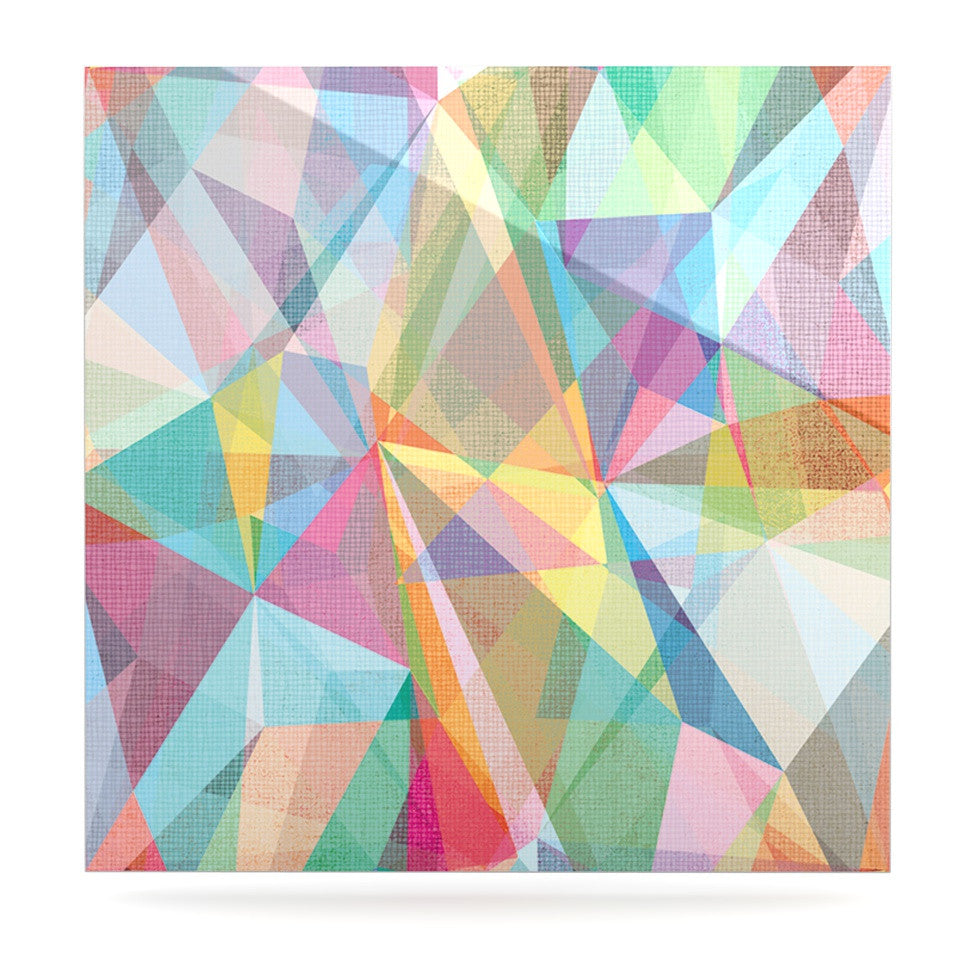 "Mareike Boehmer ""Graphic 32"" Rainbow Abstract Luxe Square Panel - KESS InHouse  - 1"