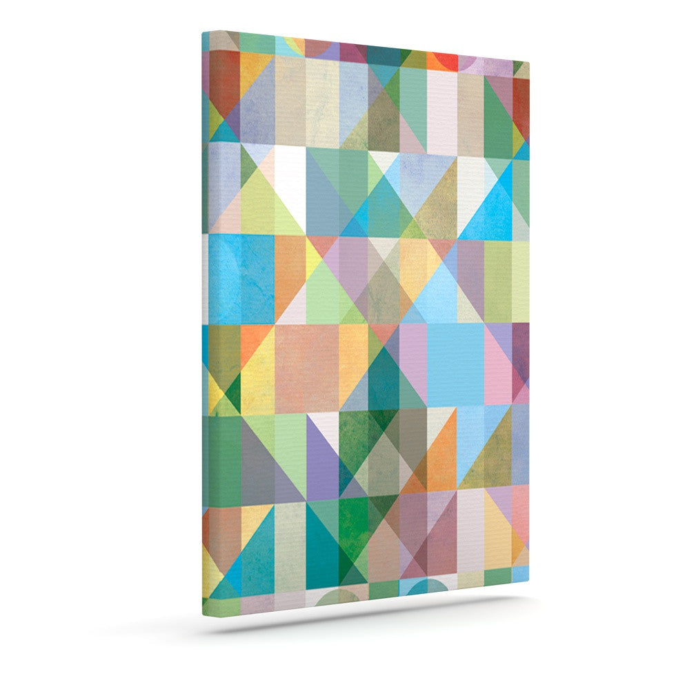 "Mareike Boehmer ""Graphic 74"" Rainbow Abstract Outdoor Canvas Wall Art - KESS InHouse  - 1"