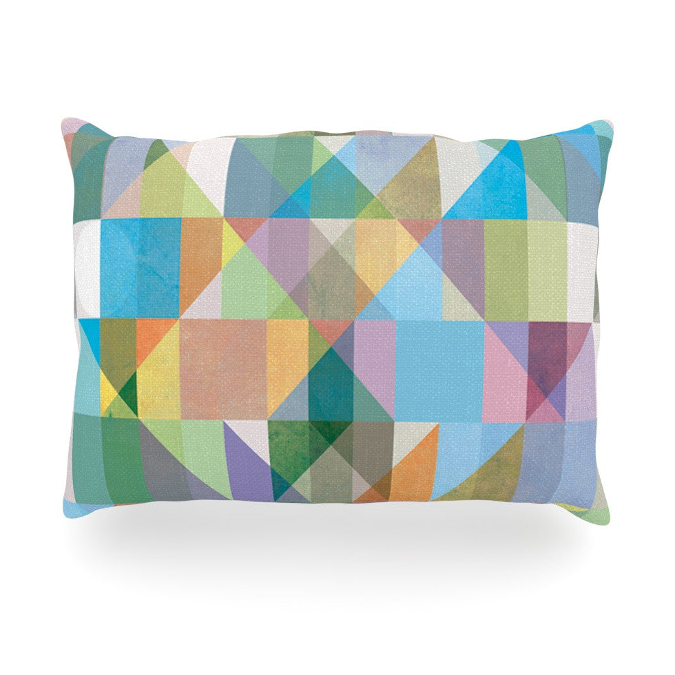 "Mareike Boehmer ""Graphic 74"" Rainbow Abstract Oblong Pillow - KESS InHouse"