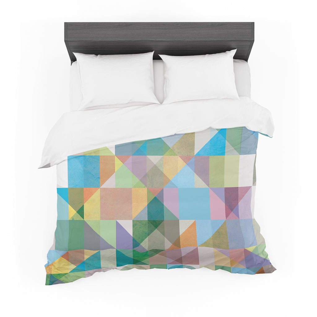 "Mareike Boehmer ""Graphic 74"" Rainbow Abstract Cotton Duvet"