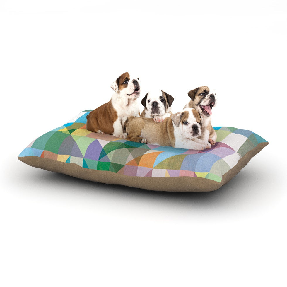 "Mareike Boehmer ""Graphic 74"" Rainbow Abstract Dog Bed - KESS InHouse  - 1"