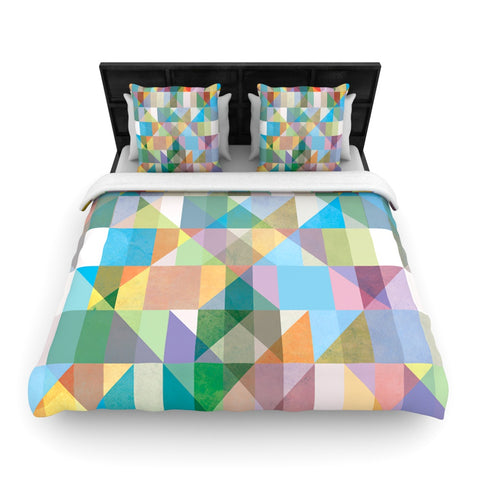 "Mareike Boehmer ""Graphic 74"" Rainbow Abstract Woven Duvet Cover - Outlet Item"