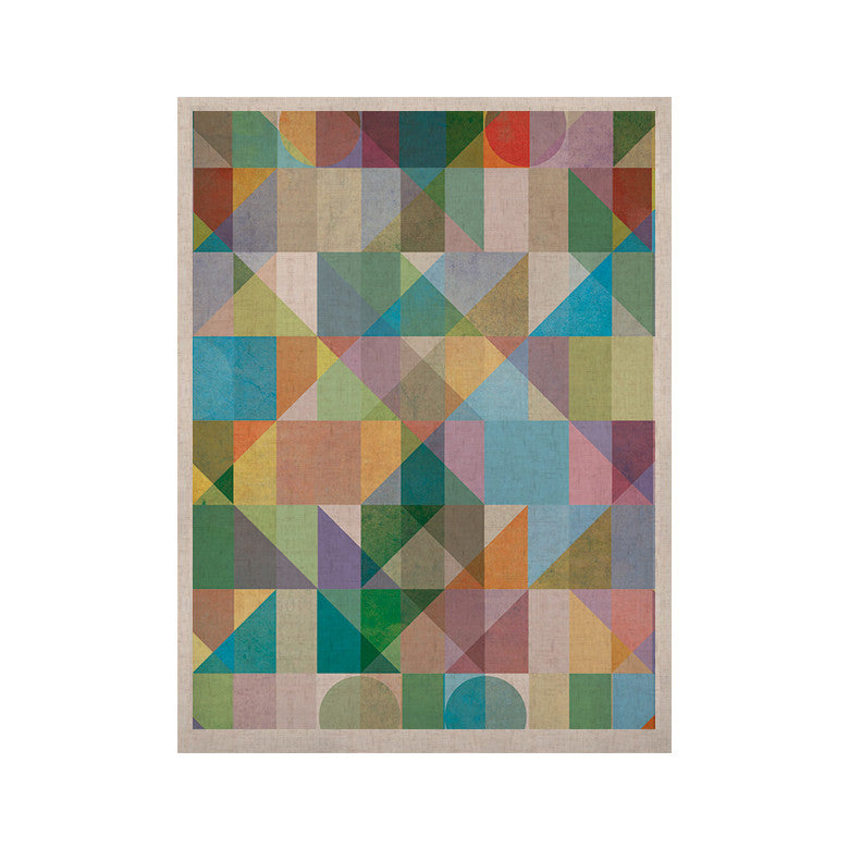 "Mareike Boehmer ""Graphic 74"" Rainbow Abstract KESS Naturals Canvas (Frame not Included) - KESS InHouse  - 1"