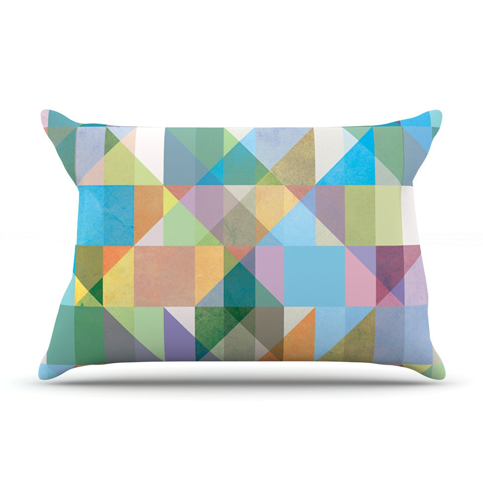 "Mareike Boehmer ""Graphic 74"" Rainbow Abstract Pillow Sham - KESS InHouse"