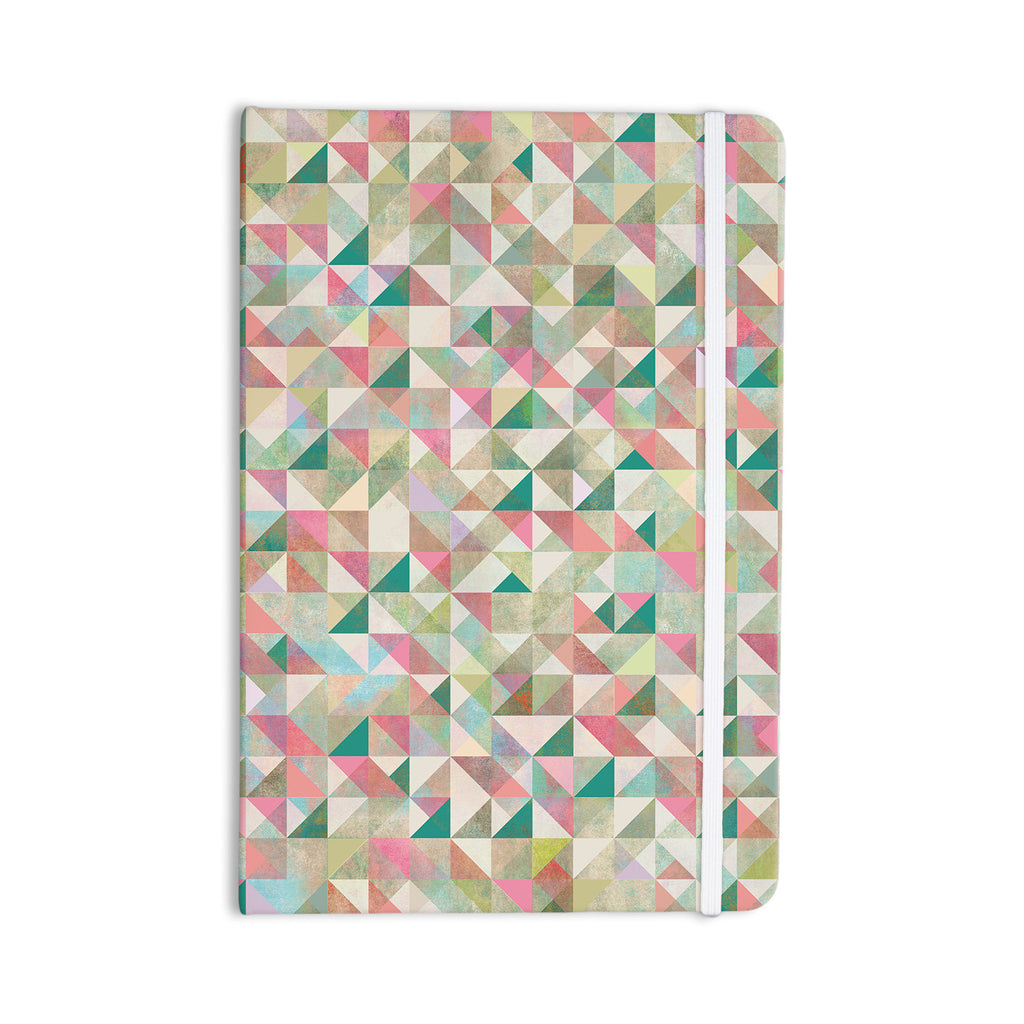 "Mareike Boehmer ""Graphic 75"" Teal Pink Everything Notebook - KESS InHouse  - 1"