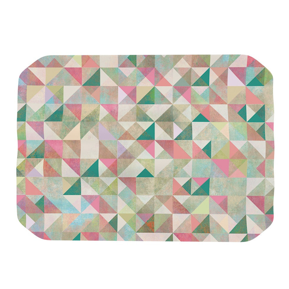 "Mareike Boehmer ""Graphic 75"" Teal Pink Place Mat - KESS InHouse"