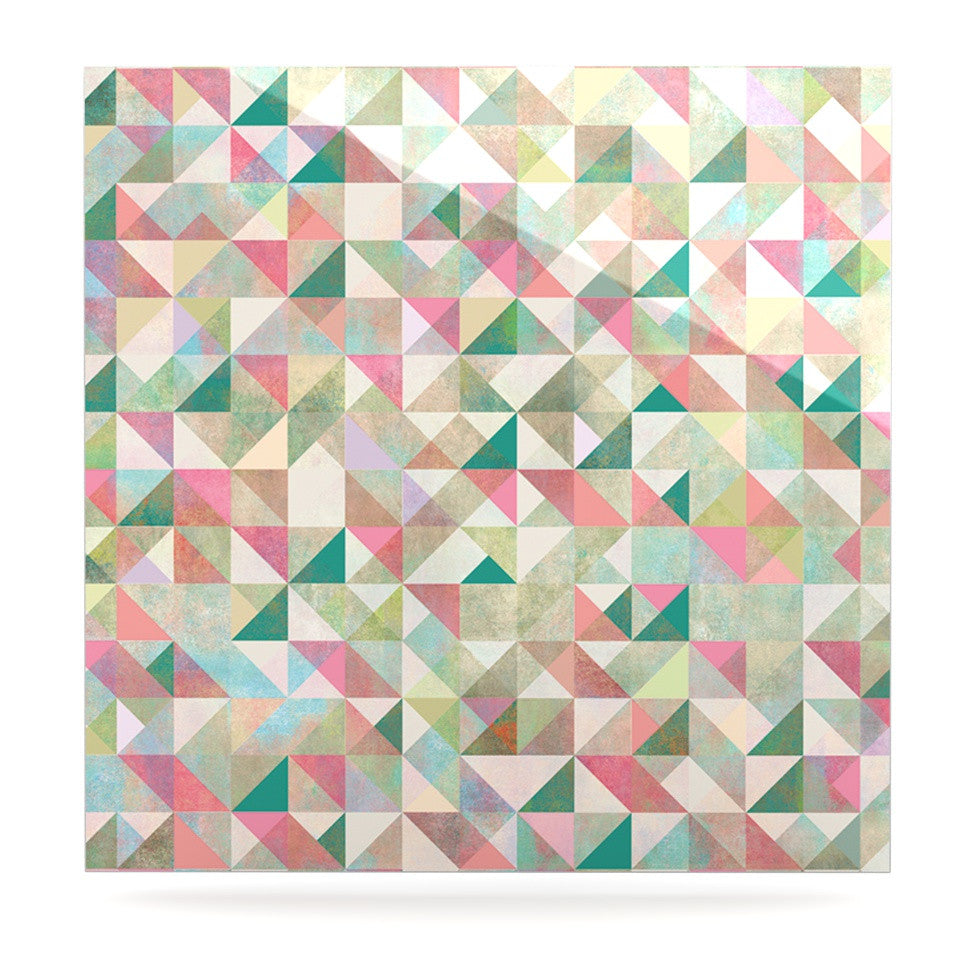 "Mareike Boehmer ""Graphic 75"" Teal Pink Luxe Square Panel - KESS InHouse  - 1"