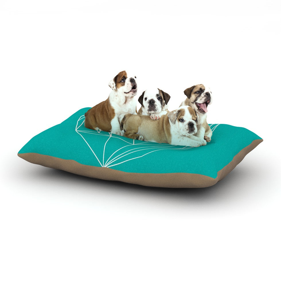 "Mareike Boehmer ""Heart Graphic Turquoise"" Teal Abstract Dog Bed - KESS InHouse  - 1"