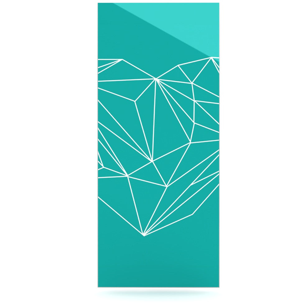 "Mareike Boehmer ""Heart Graphic Turquoise"" Teal Abstract Luxe Rectangle Panel - KESS InHouse  - 1"