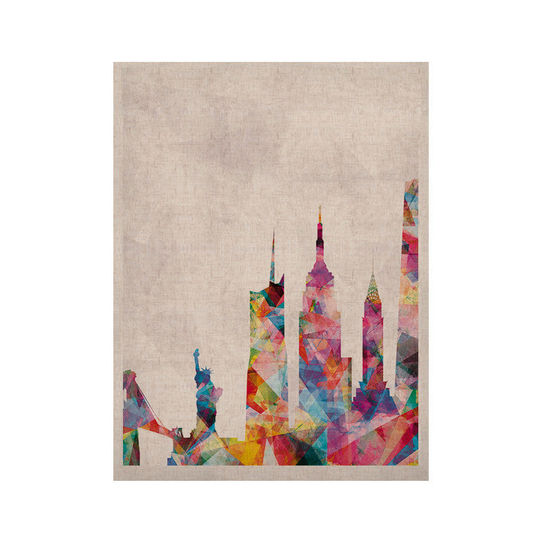 "Mareike Boehmer ""New York"" Rainbow City KESS Naturals Canvas (Frame not Included) - KESS InHouse  - 1"