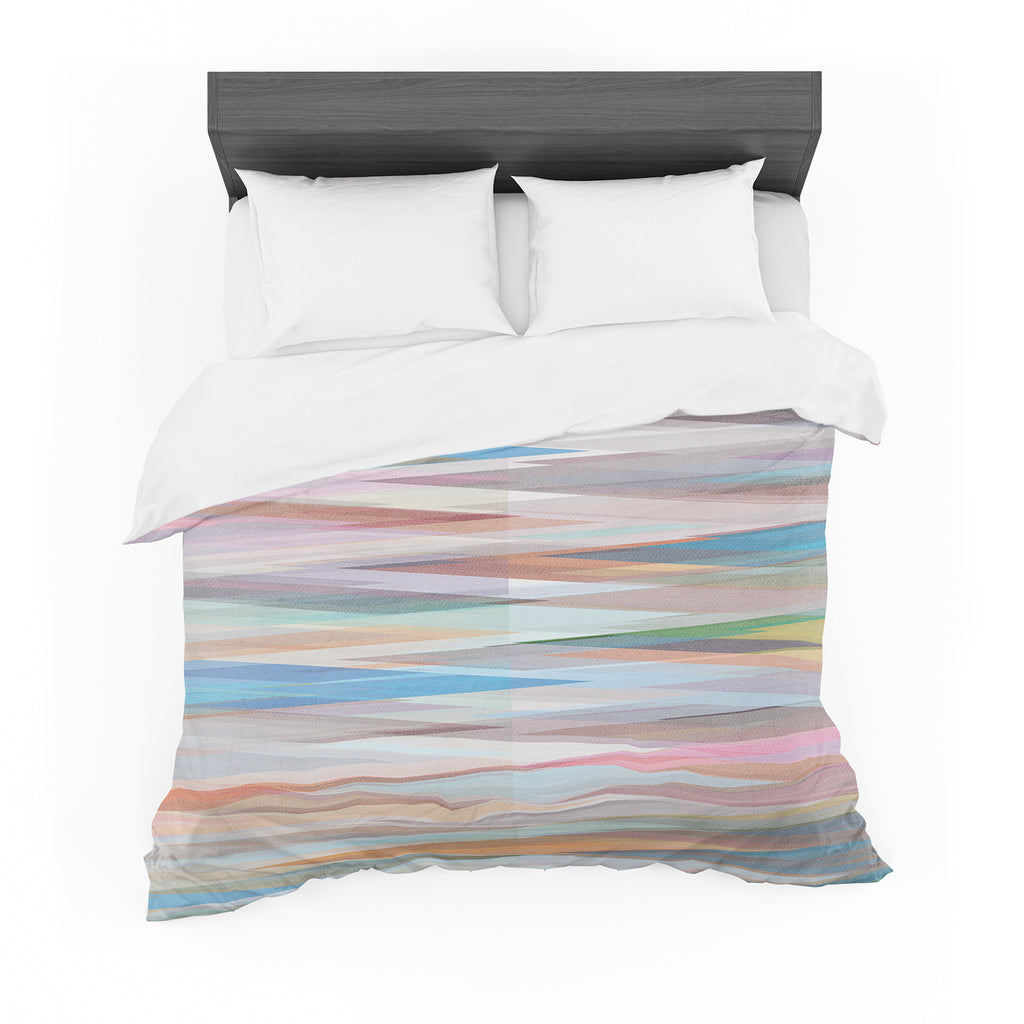 "Mareike Boehmer ""Nordic Combination II"" Rainbow Abstract Cotton Duvet"