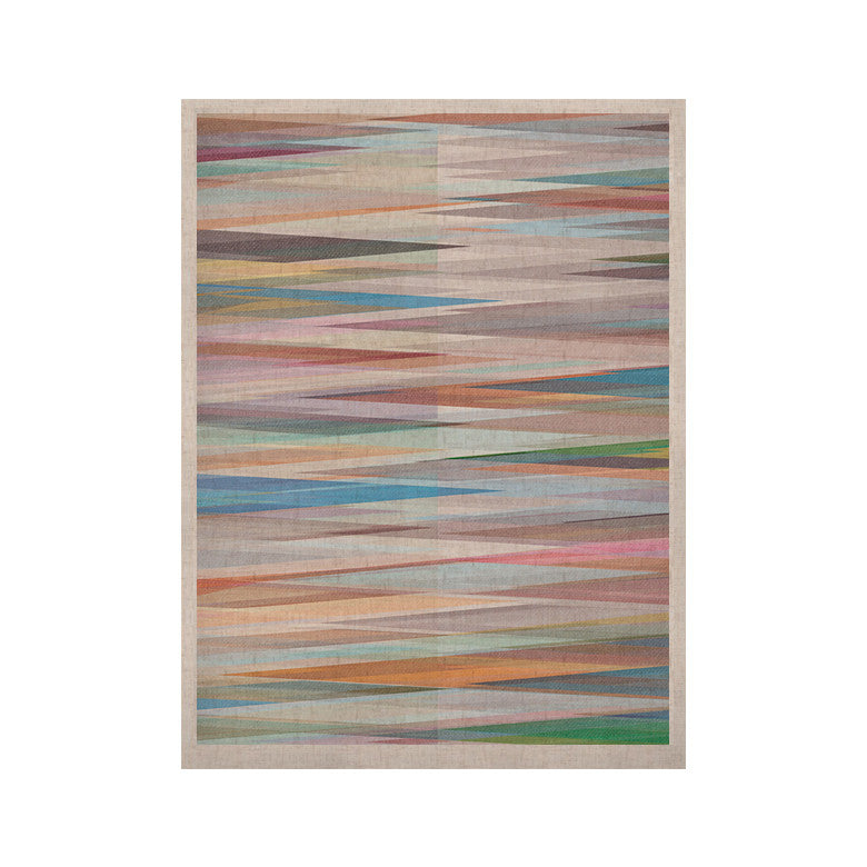 "Mareike Boehmer ""Nordic Combination II"" Rainbow Abstract KESS Naturals Canvas (Frame not Included) - KESS InHouse  - 1"