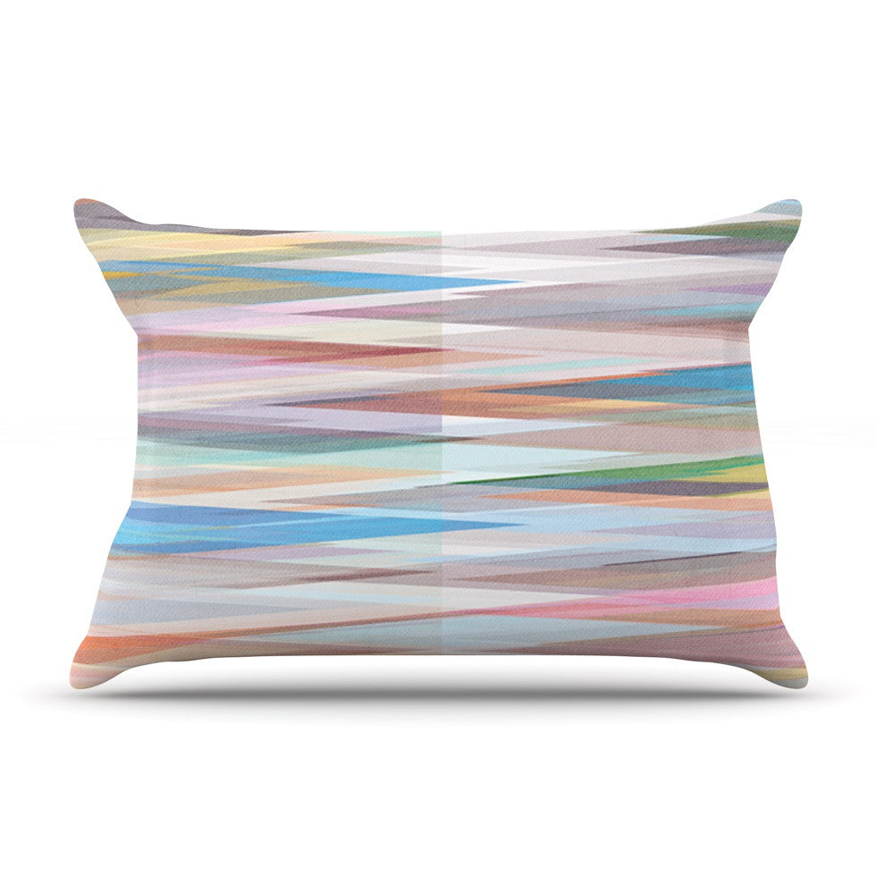 "Mareike Boehmer ""Nordic Combination II"" Rainbow Abstract Pillow Sham - KESS InHouse"