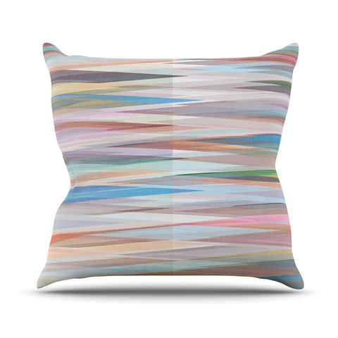 "Mareike Boehmer ""Nordic Combination II"" Rainbow Abstract Outdoor Throw Pillow - Outlet Item"