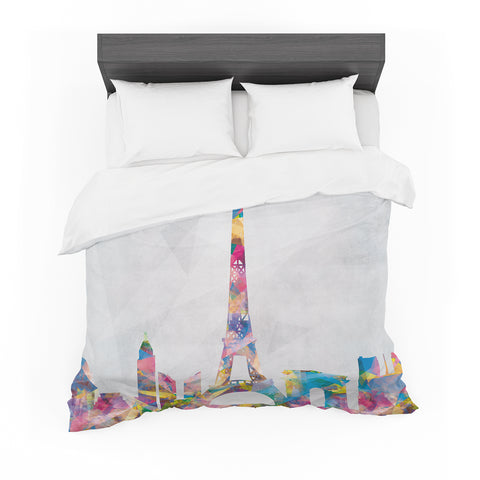 "Mareike Boehmer ""Paris Je T'Aime"" City Rainbow Featherweight Duvet Cover - Outlet Item"