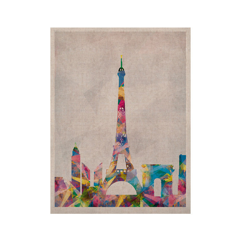 "Mareike Boehmer ""Paris"" City Rainbow KESS Naturals Canvas (Frame not Included) - KESS InHouse  - 1"
