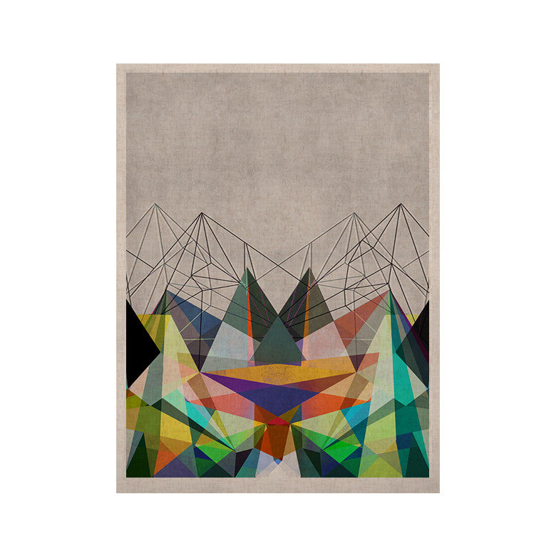 "Mareike Boehmer ""Colorflash 3X"" Grey Rainbow KESS Naturals Canvas (Frame not Included) - KESS InHouse  - 1"