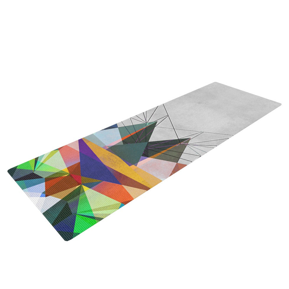 "Mareike Boehmer ""Colorflash 3X"" Grey Rainbow Yoga Mat - KESS InHouse  - 1"