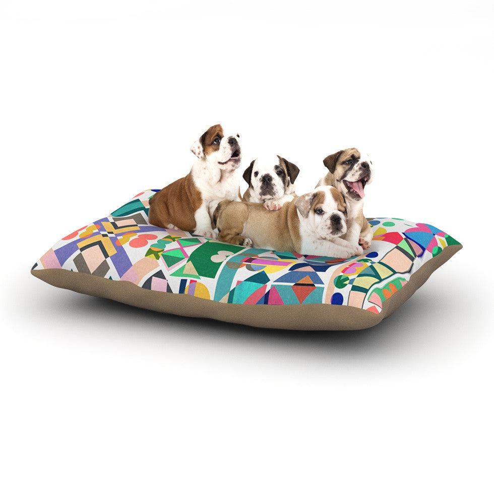 "Mareike Boehmer ""Geometry 2B"" Abstract Rainbow Dog Bed - KESS InHouse  - 1"