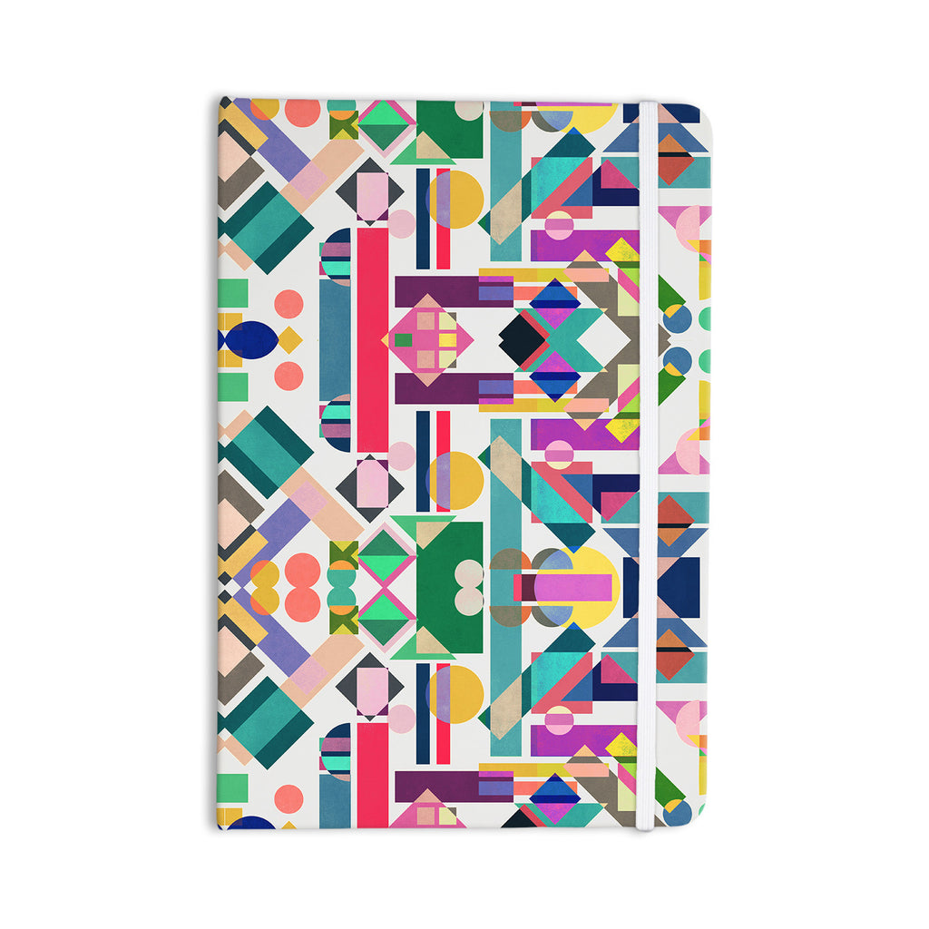 "Mareike Boehmer ""Geometry 2B"" Abstract Rainbow Everything Notebook - KESS InHouse  - 1"
