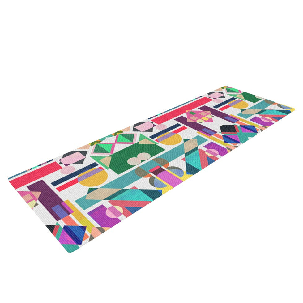 "Mareike Boehmer ""Geometry 2B"" Abstract Rainbow Yoga Mat - KESS InHouse  - 1"