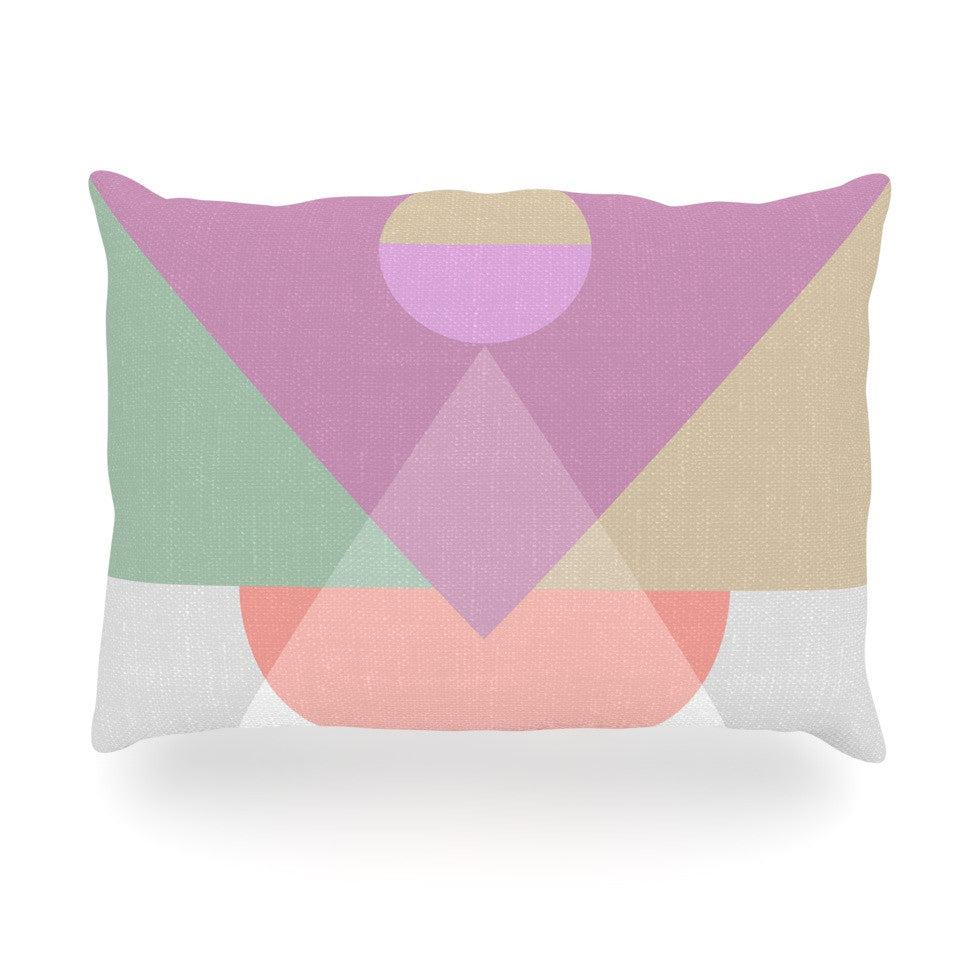 "Mareike Boehmer ""Pastel Play 3X"" Purple Pink Oblong Pillow - KESS InHouse"