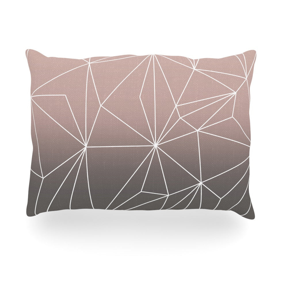 "Mareike Boehmer ""Simplicity 2X"" Brown Geometric Oblong Pillow - KESS InHouse"