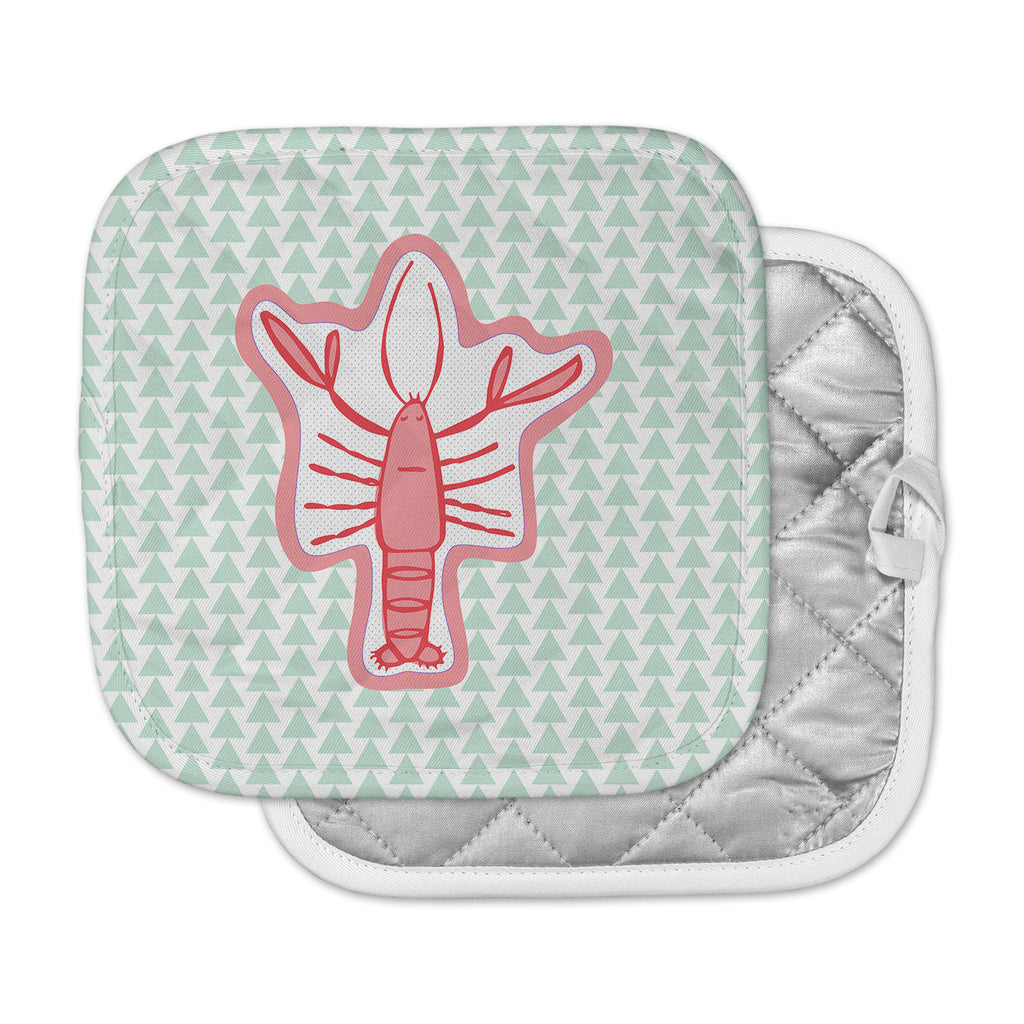 "MaJoBV ""Langosta"" Red Lobster Pot Holder"