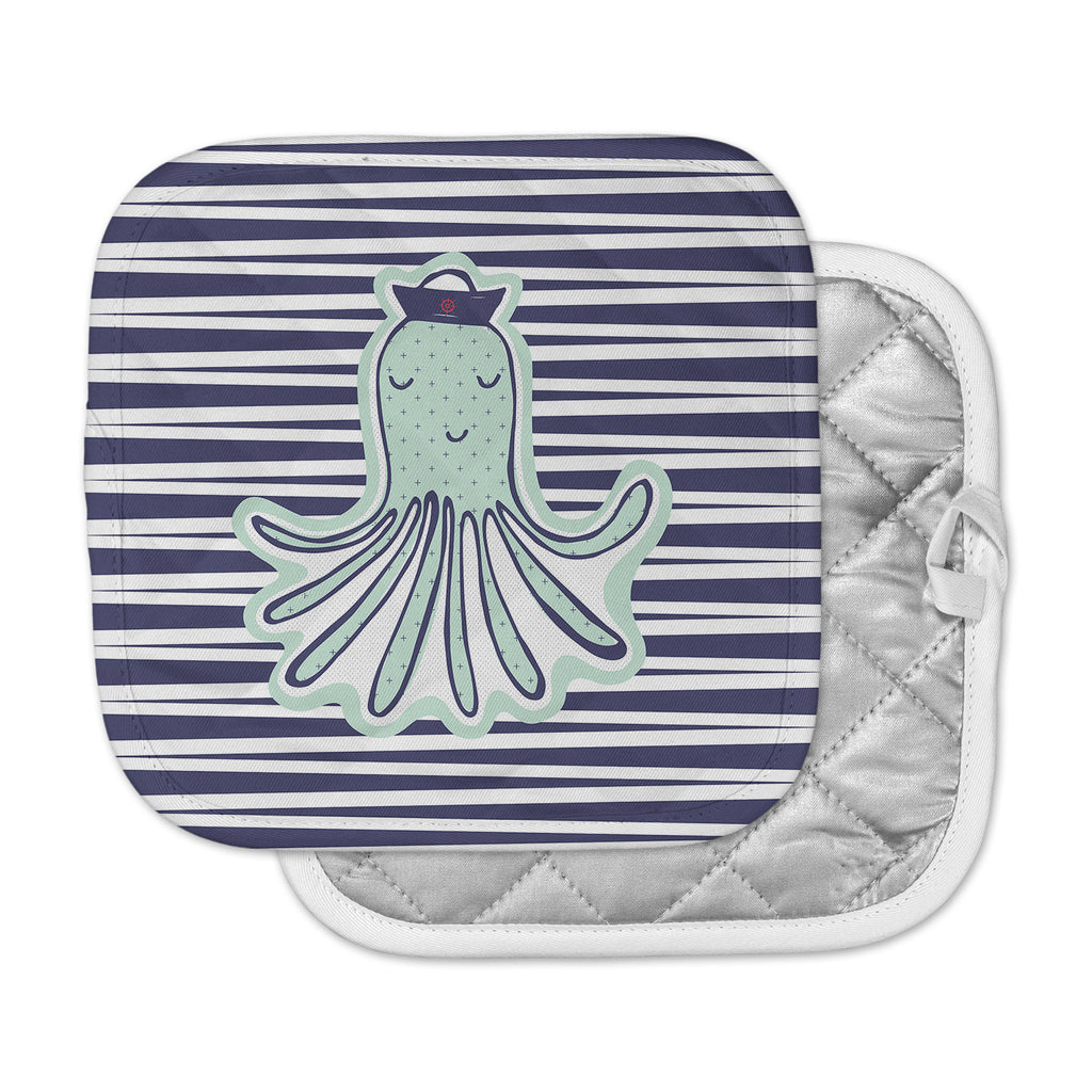 "MaJoBV ""Pulpo"" Green Octopus Pot Holder"