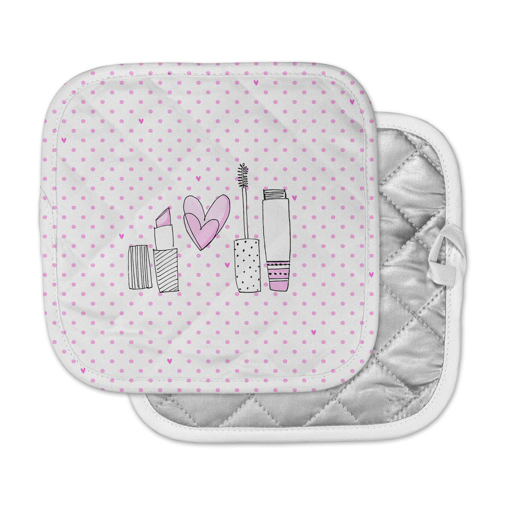 "MaJoBV ""Girls Luv"" Pink Makeup Pot Holder"