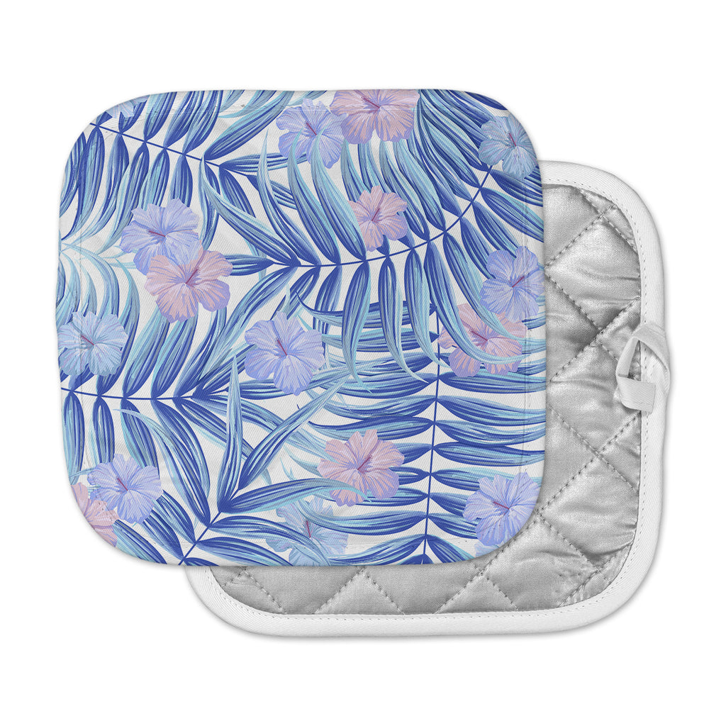 "Marta Olga Klara ""Hawaiian Pattern"" Blue Lavender Pot Holder"