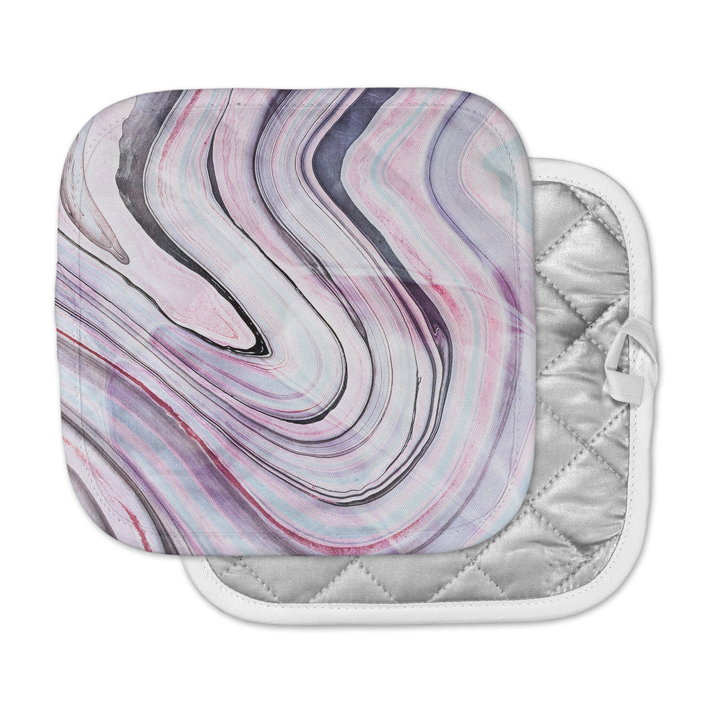 "Mmartabc ""Abstract Marble Pink"" Multicolor Pink Digital Pot Holder"