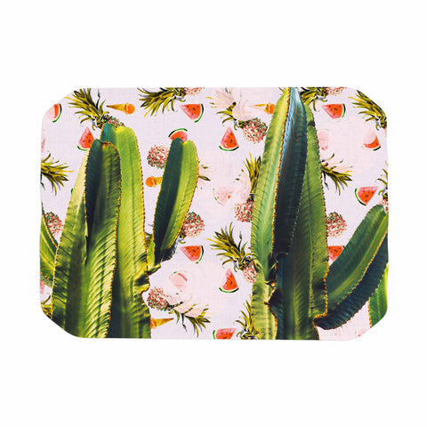 "Mmartabc ""Cactus Among Tropical Pattern"" Green Pink Photography Place Mat"