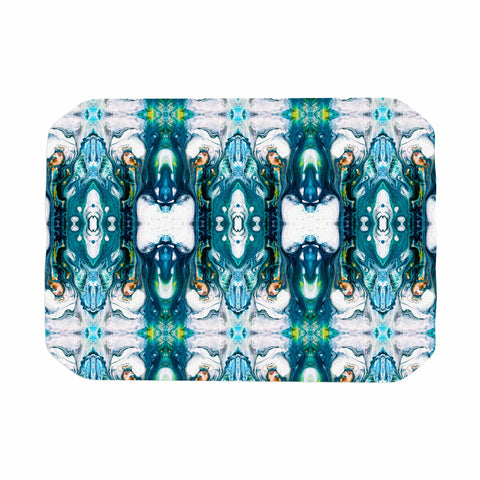 "mmartabc ""Mosaic Pattern Abstract"" Blue White Abstract Pattern Painting Watercolor Place Mat"