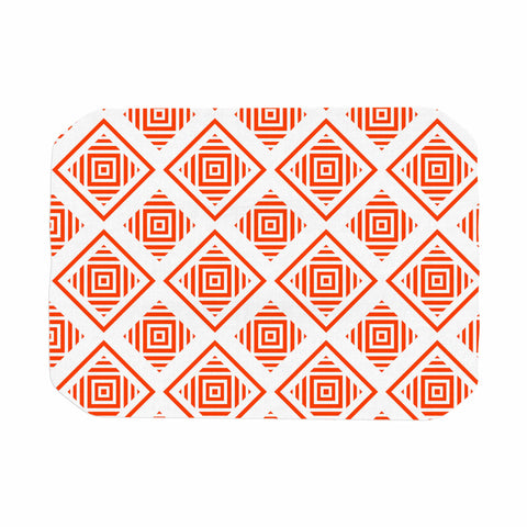 "mmartabc ""Abstract Geometric Shapes I"" Coral White Geometric Abstract Vector Digital Place Mat"
