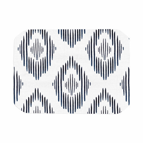 "mmartabc ""Tribal Abstract"" Blue White Abstract Tribal Vector Digital Place Mat"