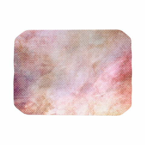 "mmartabc ""Dotted Galaxy"" Pink Multicolor Contemporary Abstract Painting Digital Place Mat"