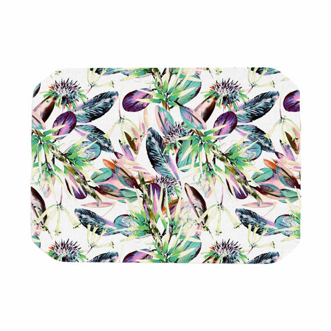 "mmartabc ""Pattern Abstract Nature"" Green Purple Abstract Nature Illustration Watercolor Place Mat"