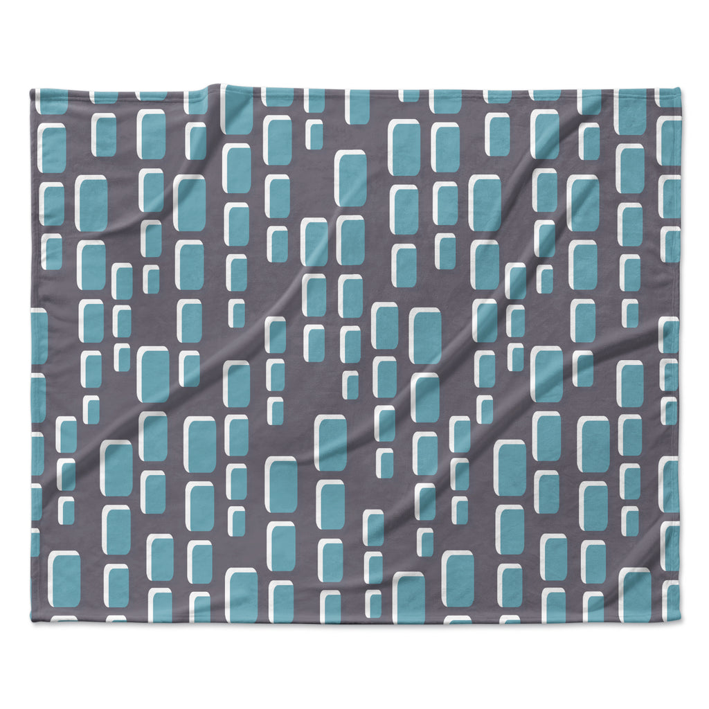 "Michelle Drew ""Cubic Geek Chic"" Fleece Throw Blanket"