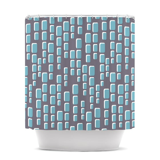 "Michelle Drew ""Cubic Geek Chic"" Shower Curtain - KESS InHouse"
