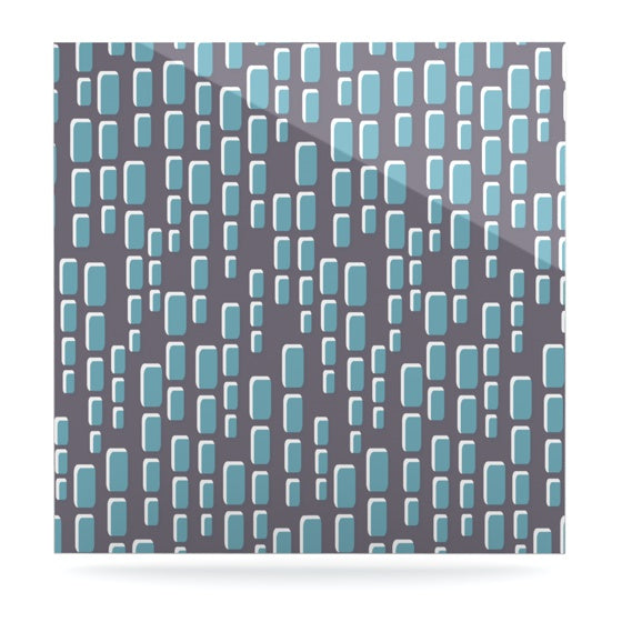 "Michelle Drew ""Cubic Geek Chic"" Luxe Square Panel - KESS InHouse  - 1"