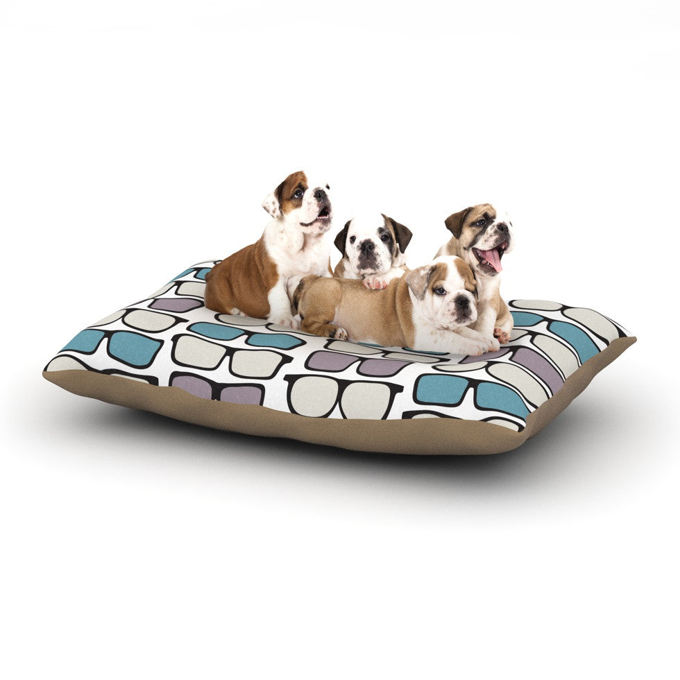 "Michelle Drew ""Spectacles Geek Chic"" Dog Bed - KESS InHouse  - 1"