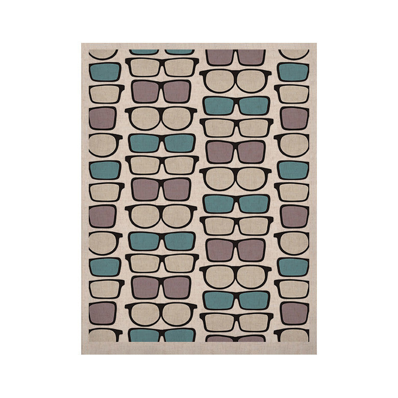"Michelle Drew ""Spectacles Geek Chic"" KESS Naturals Canvas (Frame not Included) - KESS InHouse  - 1"